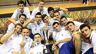 Bosnia and Herzegovina players celebrating