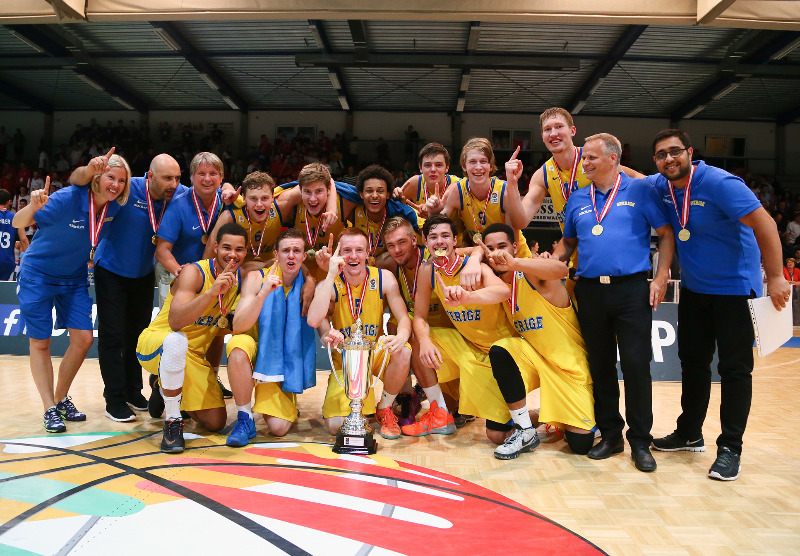 Sweden, winners of the 2015 U18 European Championship Division B