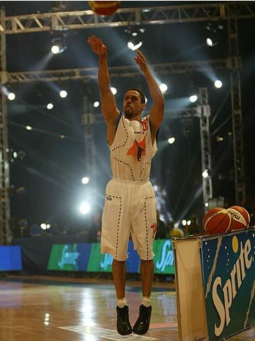 Mahmoud Abdul-Rauf during the 2004 FIBA Europe League All Star Day shootout