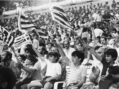 Greek fans at the 1987 European Championship