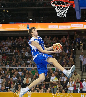 Slam dunk champion Sergey Karasev of Russia