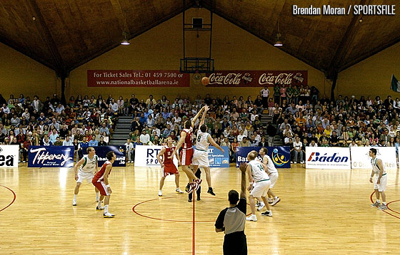 Ireland hosts Denmark in EuroBasket 2005 Division B.