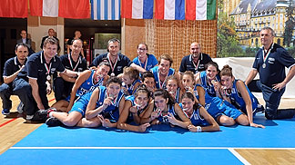 Italy take the silver medal at the 2012 U16 European Championship Women