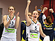 Fenerbahce celebrate their semi-final triumph over Bourges