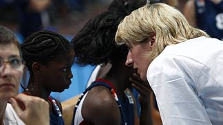 7. Olivia Epoupa (France) with Assistant Coach Cathy Melain