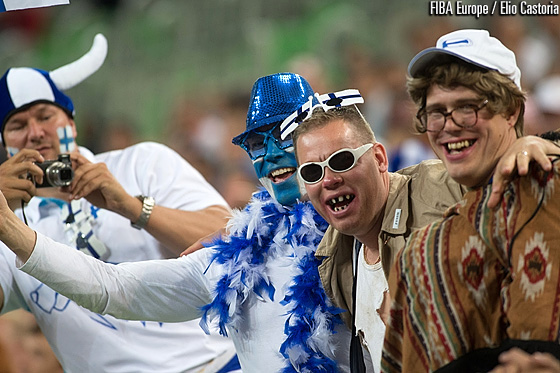 Finland fans in Stozice arena