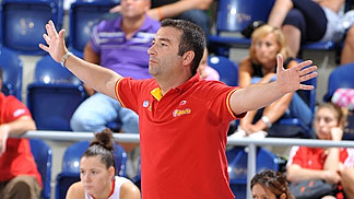 Spain coach Miguel Martinez Mendez