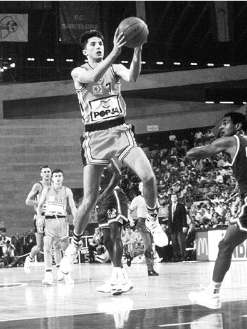 Split's Toni Kukoc at the final of the 1989 Mcdonalds Open in Barcelona. The New York Knicks defeated Split 1171-101.