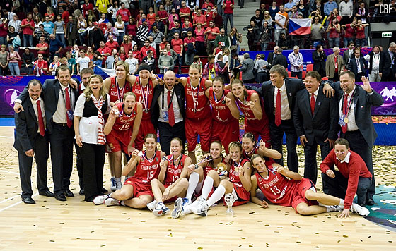The Czech Republic win the silver medal at the 2010 World Championship for Women