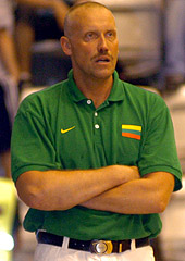 Lithuania Head Coach Rimas Kurtinaitis