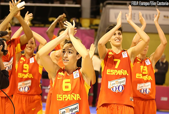 Spain celebrate as they win Group B in undefeated manner