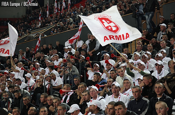 Armia fans showed up in big numbers to support their team