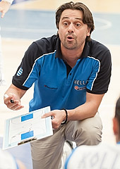Greece head coach Evripidis Meletiadis