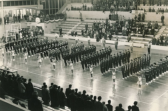 Opening Ceremony European Championship for Women 1962