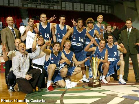 Winner of the FIBA Europe Cup Men 2004: Mitteldeutscher BC (GER)
