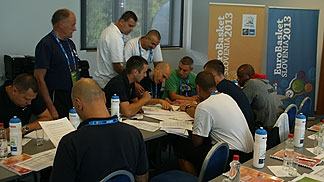 Referees in preperation for EuroBasket 2013