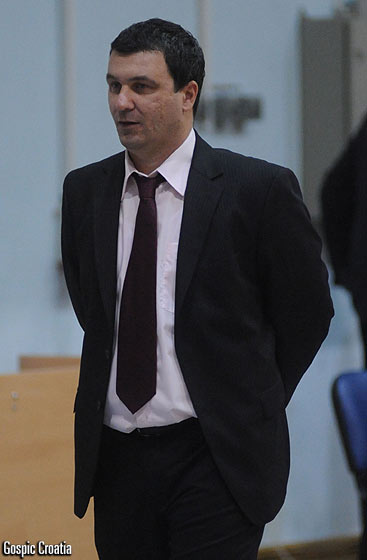 Gospic head coach Stipe Bralic