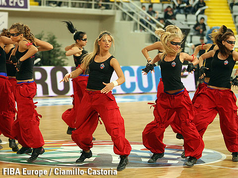 The CSKA Moscow cheerleaders
