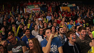 Fans at EuroCup Women Final Second Leg