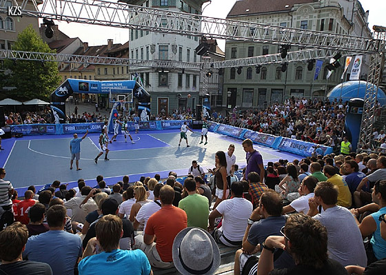 First FIBA Europe 3on3 stop in Ljubljana, 2011