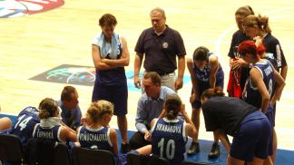 the Slovak team in time out