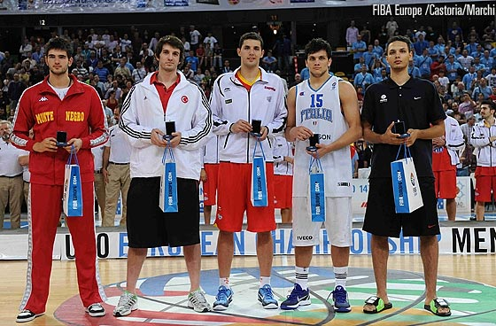 U20 European Championship All Tournament Team: Dubljevic, Aldemir, Mirotic, Gentile, Fournier