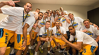 ALBA Berlin, winners of the 2014 German Cup