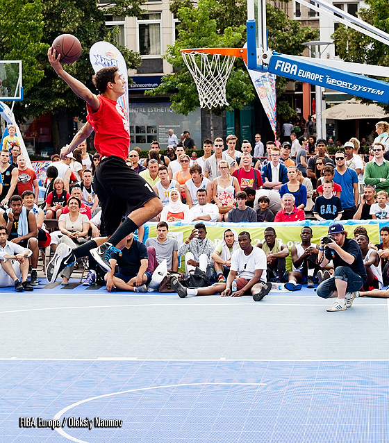 Jere Vucica - winner of Antwerp 3x3EuroTour Slam Dunk Contest