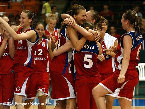 Russia Team Celebrates Bronze at 2007 U18 EC