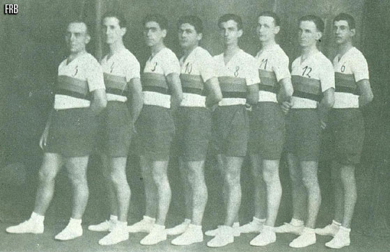 Romanias national team at the first European Championship for Men in 1935