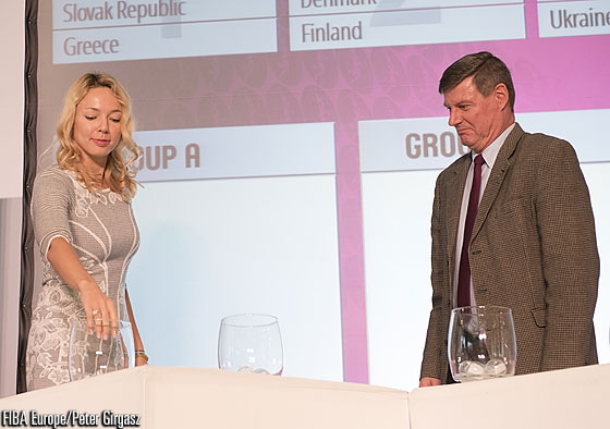 FIBA Europe Women's Ambassador Ilona Korstin at the 2014 FIBA Europe Youth Championship Draws