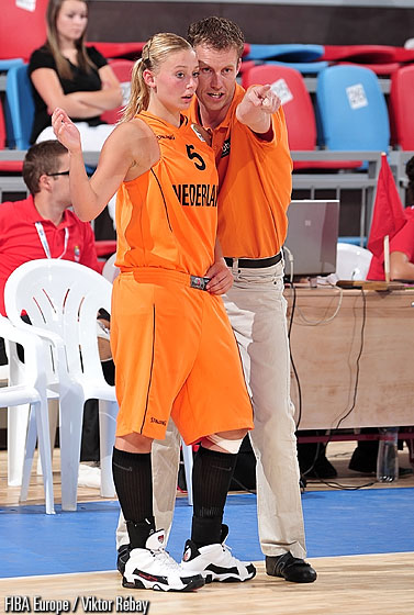 5. Gabrielle Van Den Bosch and Netherlands coach Remy De Wit