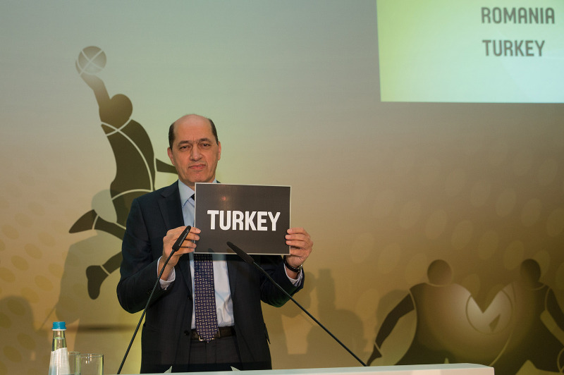 FIBA Europe President Turgay Demirel presents Turkey as Group and Final Phase hosts for FIBA EuroBasket 2017