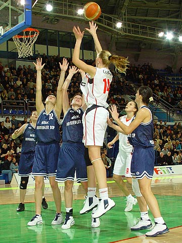 Irina Osipova (UMMC) had a season-high 17 rebounds against MBK
