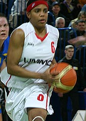 Tamecka Dixon (UMMC) driving to the basket