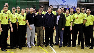 Participants of the referee clinic during the 10th Baltic Sea Basketball Cup in Tallinn, Estonia