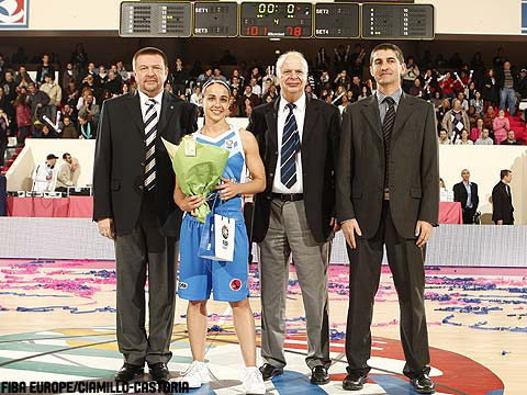 Rebekka Hammon is named MVP of the 2009 EuroLeague Women All Star Game