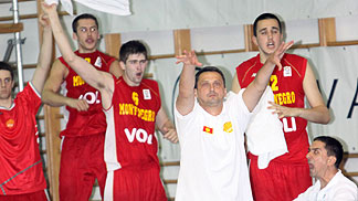 Montenegro celebrate victory over Serbia