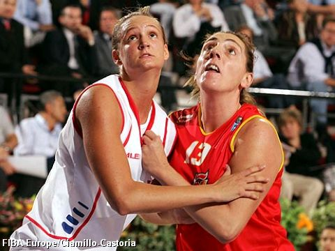 Petra Kulichová (Czech Rep.- left) and Maria Ferragut (Spain)
