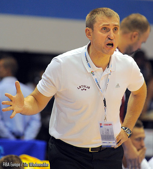 Latvia Head Coach Kestutis Kemzura