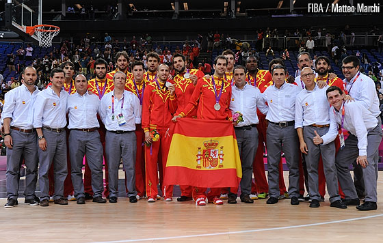 Spain win the silver medal at the London Olympics