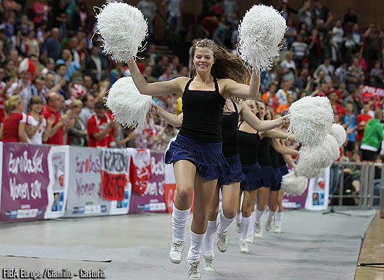 Cheerleaders at EuroBasket Women 2011