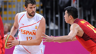 Marc Gasol (Spain); Spain v China, Olympic Games 2012, London