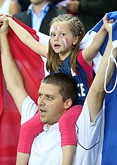 France fans in Orchies