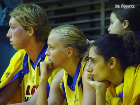 The bench of Lotos VBW Clima during the game against Lietuvos Telekomas