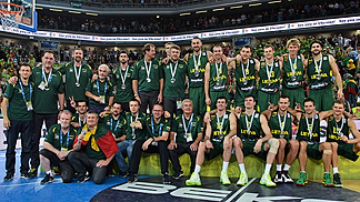 EuroBasket 2013 silver medallists Lithuania