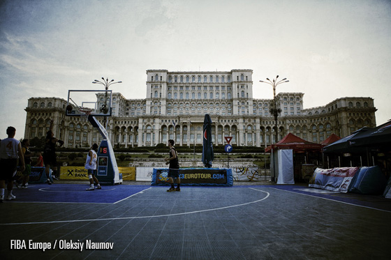 The inaugural 3x3 EuroTour Event occurred in front of the words largest civilian building - the Palace of Parliament on Plaza Constitution in Bucharest.