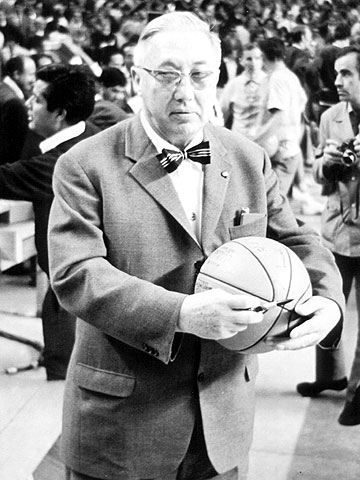FIBA Secretary General William Jones at the 1957 European Championship in Bulgaria