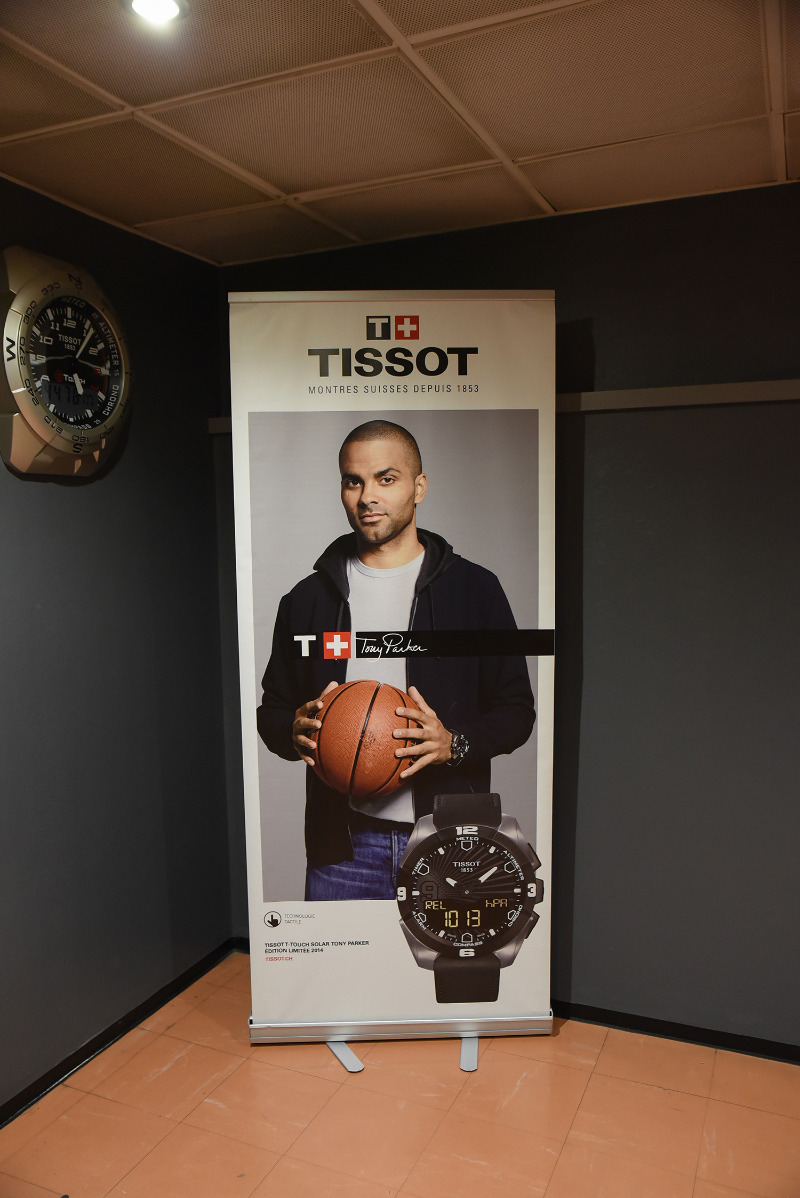 Tony Parker Tissot ad, displayed in the Astroballe