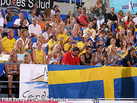 Swedish fans in Tenerife